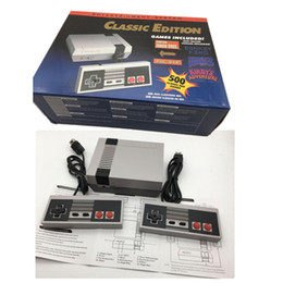 Wholesale Pal Tv - Handheld Game Console Mini TV Video Entertainment System Built-in 500 Classic Games Controllers For Nes Games PAL&NTSC With Retail Box