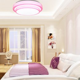 Wholesale Downlight House - 12 Watts LED Ceiling Lights Diameter 280mm Bedroom Dinning Room Ceiling Mounted Downlight Lamp Pink Blue Orange Housing for Choose