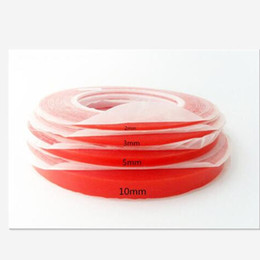 Wholesale Red Transparent Film - (1,2,3,4,5,6,8,10)mm 25M RED Film Transparent Double Sided Sticky Adhesive Tape For Phone Repair
