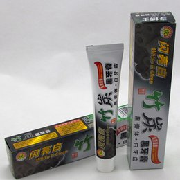Wholesale Wholesale Whitening Toothpaste - DHL Free 100g Charcoal Toothpaste Whitening Black Tooth Paste Bamboo Charcoal Toothpaste Oral Hygiene Product High Quality