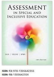 Wholesale Hot Seller Assessment in Special and Inclusive Education th Edition Books ISBN