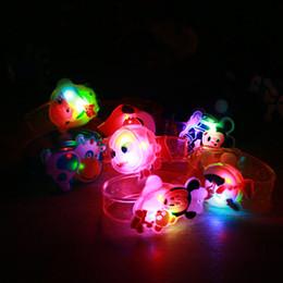 Wholesale Kids Girls Bracelet Watches - Wholesale-1x Creative kids cartoon watch Boys girls flash wrist band glow luminous bracelets children's day Birthday party gifts toys