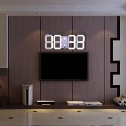 2019 regali all'ingrosso dell'insegnante Telecomando multifunzione Big LED Digital Orologio da parete Luminosità regolabile Cronometro Allarme Termometro Conto alla rovescia Calendario + B