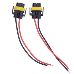 Wholesale Hid Wiring Harness - 2pcs H8 H11 Car Auto Wire Connector Cable Plug Wiring Harness Socket Female Adapter For HID Xenon Headlight Fog Light Lamp Bulb