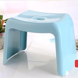 Wholesale Bathroom Benches - Free shipping Children small bench Adult low stool Thickening plastic Household Change shoes stool Bathroom Rectangular stool
