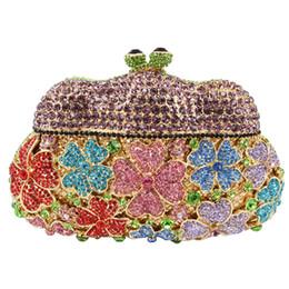 Wholesale Designer Handbag Clutch Ladies Chain - Wholesale- new designer evening bags Golden Unique women clutch bag Hollow Out party purse luxury crystal ladies dinner handbag SC152