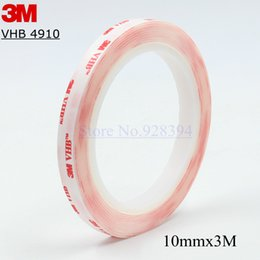 Wholesale Heavy Duty Adhesive - Wholesale- 2016 1Roll 10mm x 3Meters Clear 3M VHB 4910 Heavy Duty Double Sided Adhesive Acrylic Foam Free Shipping