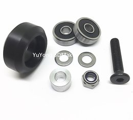 Wholesale Cnc Parts Kit - Freeshipping New listing High precision CNC delrin solid v wheel kits for Openbuilds v-slot linear rail system,OX CNC,C-Beam parts