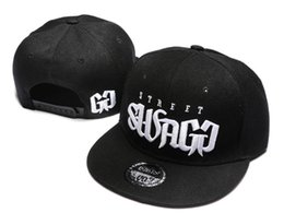 Wholesale Swagg Snapback Caps - Street Swagg Snapbacks Fashion Hip Hop Hats Caps Flat Brim Snapback Men Women Summer Beach Sun Hat Cool Party Cap