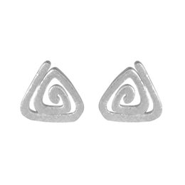 Wholesale Jewelry Small Triangle - 5 pairs lot 925 Sterling Silver Jewelry Women Triangle Spiral Stud Earrings Small Pendientes de Plata Bijouterie
