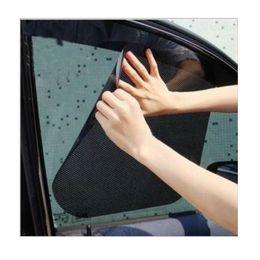 Wholesale Curtain Side Window Sun - Wholesale- 1 Pair X Car Curtain Windshield Stickers Sun Shade UV Protection Car Cover Side Window Film 38*42cm