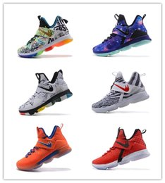 Wholesale Cheap Size 14 Basketball Shoes - 2017 New Arrival James 14s Rio Luminous Coast Men Basketball Shoes for Cheap Sale 14 XIIII Sports Training Sneakers Size 36-46