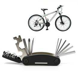 Wholesale Tools For Bicycle Repair - EOVAS Portable 15 In 1 Multi-Function Bike Bicycle Mechanic Repair Tool Kit with Compact Screwdriver Nut Driver for Any Emergency During