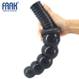 Wholesale Sex Toys China - FAAK 30cm Long 5 Balls Anal Vagina Dildo Handle Plug Insert Big Butt Penis Adult Game Unisex Stimulate Gay Erotic China Sex Toy