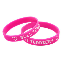 Wholesale Flexible Love - Wholesle Shipping 100PCS Lot Love Bull Terriers Silicon Wristband, Flexible And Strong. Wear This Bracelet To Show Your Difference