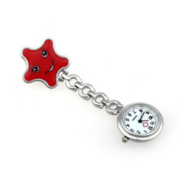Wholesale Wholesale Nice Watches - Wholesale-Nice Nurse Clip-on Fob Brooch Pendant Hanging watch Star Pocket Watch Women Nurse pocket watch reloj de bolsillo