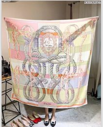 Wholesale Horse Shawl - (High quality custom) Limited edition scarf silk cashmere scarf 40cm*140cm classic victory reins horse cars