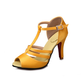 Wholesale Silk Stiletto Heel Sandals - Traditional Chinese silk, stiletto heels, solid color wedding, date dating, elegant female sandals, HQW997