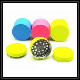 Wholesale coat smoking - New Colors Zinc Alloy Metal Grinder Coated with Silicone Cover 3 Piece Layer Parts 40mm Herb Tobacco Smoking Grinders DHL Free