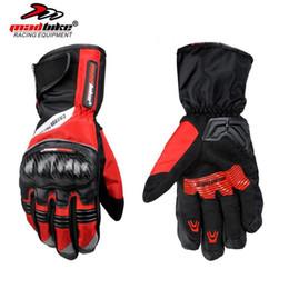 Wholesale Long Waterproof Gloves - Wholesale- Madbike Motorcycle Gloves Long Glove Full Finger Motorbike Cycling Racing Luvas Waterproof Motocross Outdoor de la motocicleta