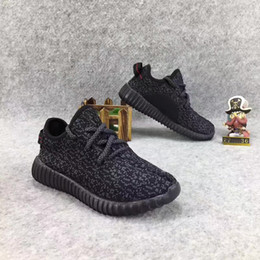 Wholesale Baby Train Shoes - Kids BOOST 350 Pirate Black Children Running Shoes Kanye West 350 Boost Boys Girls Training Sneakers Athletic Shoes Baby Walking Shoes Pink