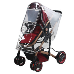 Wholesale Dust Coat Baby - Wholesale- Baby stroller rain cover Frosted rain coat PVC Universal Wind Dust Shield with windows Pushchairs stroller accessories