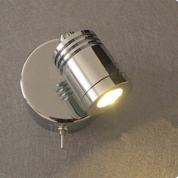 Wholesale Hotels Building - Free shipping Reading Wall Lights with Switch 3W CREE LED Built-in driver Chrome finish Hotel Residential and RV Motorhome Yacht Boat Light