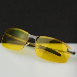 yellow glasses for night driving Coupons - Wholesale- 2016 HD Professional Driving Glasses Night Vision Polarized Sun Glass for Driver Goggles Yellow Lens Sunglasses