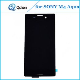 Wholesale One M4 - High Quality for SONY M4 Aqua LCD Assembly Touch Digitizer Screen Replacement One by One Checked