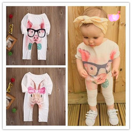 Wholesale Infant Pig - 2017 High quality Kid clothes Newborn Infant Baby Girl Bodysuit Rabbit Pig Animal Romper Jumpsuit Outfits Sunsuit Clothes 0-24M