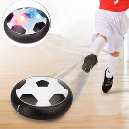Wholesale Foam Soccer Balls - LED Air Power Soccer Ball Indoor Sport Football Toy Multi Surface Soft Foam Floating Gliding Toy With Retail Packaging