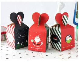 Wholesale Christmas Eve Gift Boxes - Merry Christmas Candy Box Santa Claus Paper Box Christmas Eve Apple Gift Bag Wedding Favors And Gifts Bag Xmas Decor