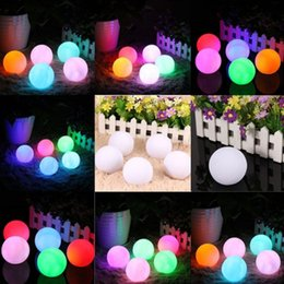 Wholesale Mood Egg - Wholesale- Colorful Ball LED Night Light Glowing Mood Lamp Home Party Wedding Christmas Decoration Child Baby Gift