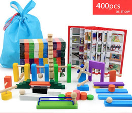 Wholesale Old Wooden - Dominoes 400pcs domino | color International Standards Pine production |wooden toys kid toy free shipping