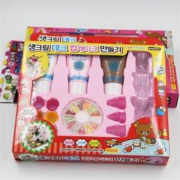 Wholesale Diy Simulation Cream - Simulation color mud cake cream DIY plasticine manual emulators cream plastic children's educational toys