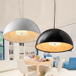 Wholesale Big Halls - Hot Dia 40cm   Dia 60cm White Black Golden Brown Italy Flos Skygarden Big Pendant Lamps Fixture Chandelier Droplight Light Resin Lamp