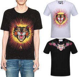 Wholesale Quick Cats - Printed Angry Cat Fashion T-Shirt Man Shortsleeve Ribbed O Neck Tee Cotton Top Casual Wear Men