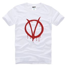 Wholesale Vendetta Gold - Wholesale- movie V for Vendetta Printed Mens Men T Shirt Tshirt Fashion 2015 New Short Sleeve O Neck Cotton T-shirt Tee Camisetas Hombre