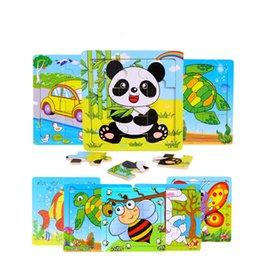 f7b7792b036ff 3 unidades   lote 3X3 Animal lindo rompecabezas juguetes de madera para  niños de dibujos animados rompecabezas juguetes educativos para niños bebé  envío ...