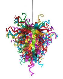 Tiffany Lampes LED Plafonnier Ventilateur Décoratif Pour La Maison Edison Ampoules Murano Verre Coloré Chian Lustre Lumière ? partir de fabricateur