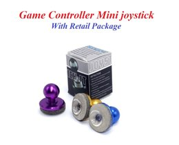 Wholesale Pink Joystick - Mini Tactile Game Controller Mini joystick for iPhone touch or Android Gaming Device cellphone roker sucker With Retail Package DHL