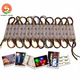 Wholesale Led Signs Wholesales - 80LM 0.72W 3 Leds SMD 5050 Led Modules RGB Led Pixel Modules Waterproof 12V Backlights For Channel Letter sign Free Shipping