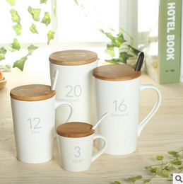 Wholesale Coffee Mugs Advertising - 2017 New arrival Starbucks style coffee 90-600ml cup ceramic mug promotion logo custom merchandise advertising cup