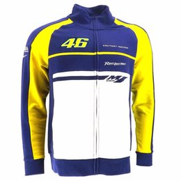 Wholesale Gps For Motorbikes - New Motorcycle VR46 Valen Rossi Cotton hoodie Moto GP Racing Jackets Motorbike motocross NO.46 Casual sweater coat For Yamaha