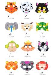 Wholesale Back Bag Kids - Kids Fancy DressFoam Mask Eva Animal Masks Party Bag Filler Child Birthday Holiday Christmas Cosplay stage cartoon mask gift