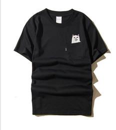 Wholesale Summer Fashion Cat Print Cotton - Sponge mice RIPNDIP T Shirt Men Wome 1:1 High Quality Cartoon Cat T-shirts Hip Hop RIPNDIP T Shirt Summer Tops tees