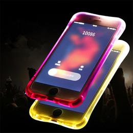 2019 funda de iphone de luz led intermitente Llame a Lightning Flash LED Light Up Case Casbag Casos TPU transparentes para iPhone x 8 7 plus 6 6s plus 5s se samsun note 8 s8 s8 plus s7 rebajas funda de iphone de luz led intermitente