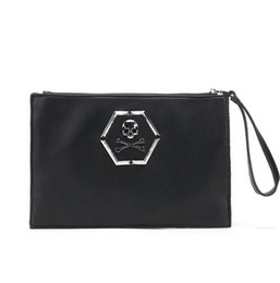 Wholesale Envelope Chest - Factory wholesale brand high-quality thick leather bag retro personality fashion decoration. Man backpack chest pack Rock Skull bag