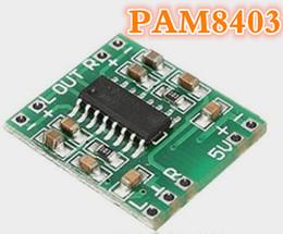 Wholesale 5v Power Amplifier - 10pcs lot PAM8403 module digital amplifier board 2 * 3W Class D digital board efficient USB power supply 2.5 -5V
