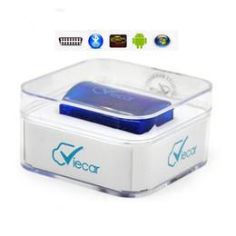 connecteur opel 16 broches Promotion Vente en gros - Meilleur prix Super MINI Viecar 2.0 ELM327 Bluetooth ELM 327 OBD2 outil de scanner de diagnostic pour le système Android PC